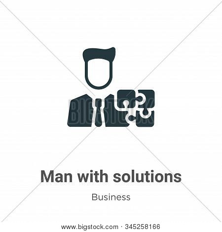 Man with solutions icon isolated on white background from business collection. Man with solutions ic