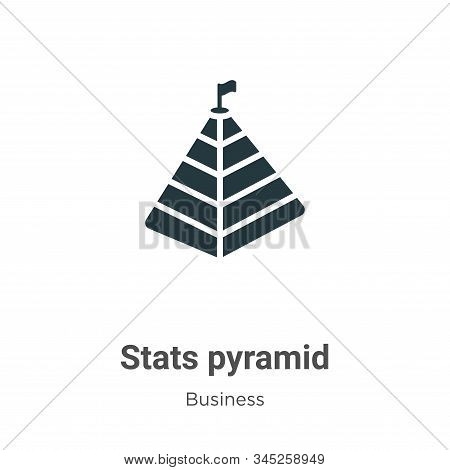 Stats pyramid icon isolated on white background from business collection. Stats pyramid icon trendy