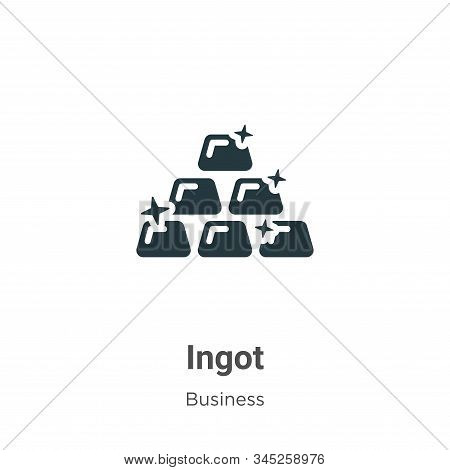 Ingot icon isolated on white background from business collection. Ingot icon trendy and modern Ingot