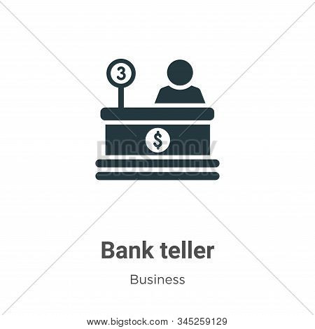 Bank teller icon isolated on white background from business collection. Bank teller icon trendy and