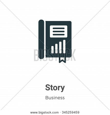 Story icon isolated on white background from business collection. Story icon trendy and modern Story