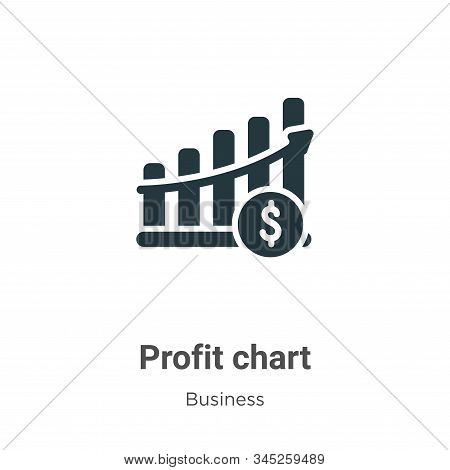 Profit Chart Vector Icon On White Background. Flat Vector Profit Chart Icon Symbol Sign From Modern