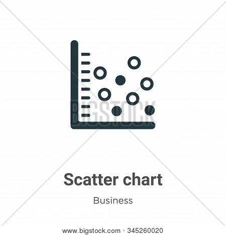 Scatter chart icon isolated on white background from business collection. Scatter chart icon trendy