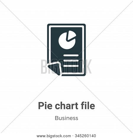 Pie chart file icon isolated on white background from business collection. Pie chart file icon trend
