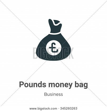 Pounds money bag icon isolated on white background from business collection. Pounds money bag icon t