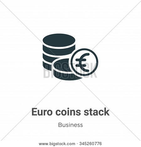 Euro coins stack icon isolated on white background from business collection. Euro coins stack icon t