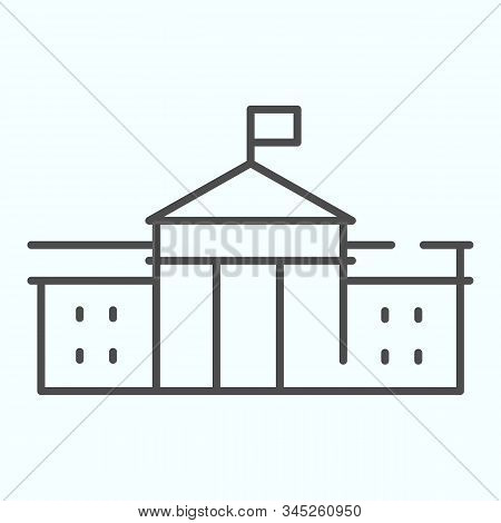 White House Building Thin Line Icon. Washington Architecture Vector Illustration Isolated On White.
