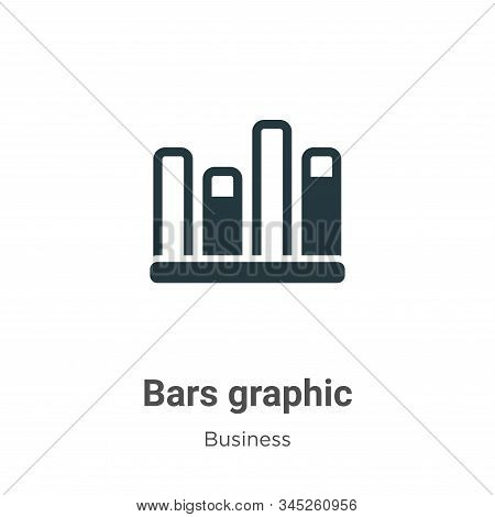 Bars graphic icon isolated on white background from business collection. Bars graphic icon trendy an