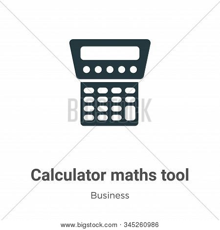 Calculator maths tool icon isolated on white background from business collection. Calculator maths t