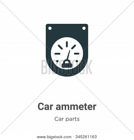 Car ammeter icon isolated on white background from car parts collection. Car ammeter icon trendy and