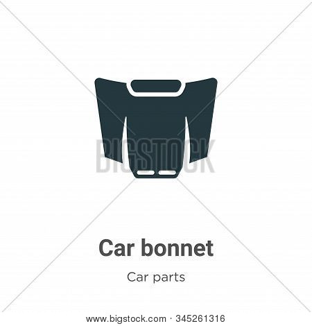 Car bonnet icon isolated on white background from car parts collection. Car bonnet icon trendy and m