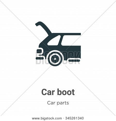 Car Boot Vector Icon On White Background. Flat Vector Car Boot Icon Symbol Sign From Modern Car Part