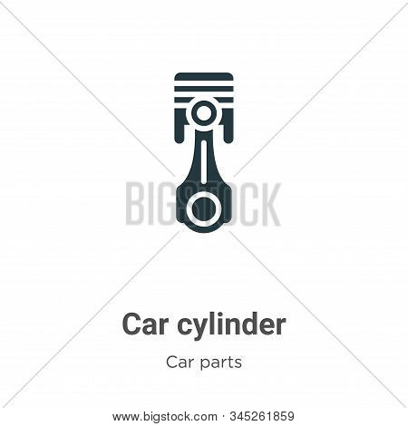 Car Cylinder Vector Icon On White Background. Flat Vector Car Cylinder Icon Symbol Sign From Modern