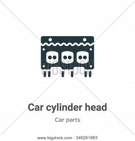 Car Cylinder Head Vector Icon On White Background. Flat Vector Car Cylinder Head Icon Symbol Sign Fr
