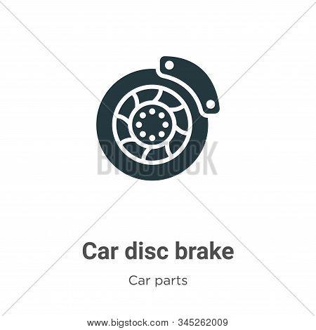 Car disc brake icon isolated on white background from car parts collection. Car disc brake icon tren