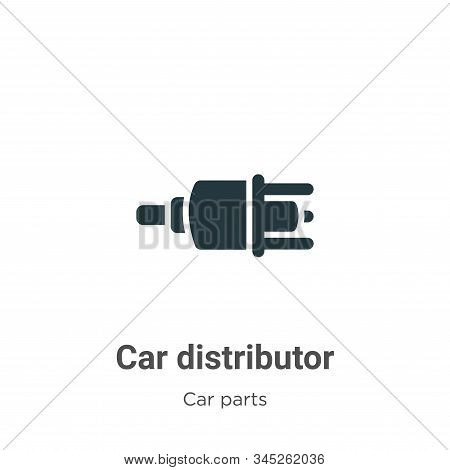 Car distributor icon isolated on white background from car parts collection. Car distributor icon tr