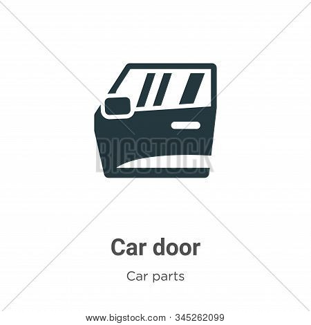 Car door icon isolated on white background from car parts collection. Car door icon trendy and moder
