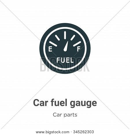 Car fuel gauge icon isolated on white background from car parts collection. Car fuel gauge icon tren