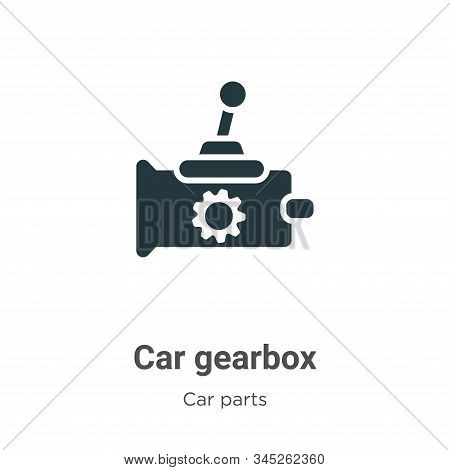 Car gearbox icon isolated on white background from car parts collection. Car gearbox icon trendy and