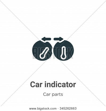 Car indicator icon isolated on white background from car parts collection. Car indicator icon trendy
