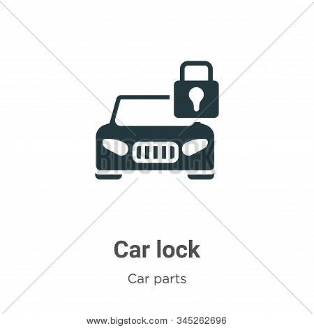 Car lock icon isolated on white background from car parts collection. Car lock icon trendy and moder
