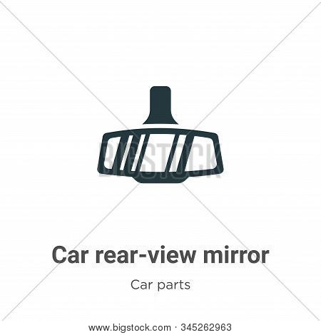Car rear-view mirror icon isolated on white background from car parts collection. Car rear-view mirr