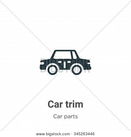 Car Trim Vector Icon On White Background. Flat Vector Car Trim Icon Symbol Sign From Modern Car Part