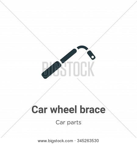 Car wheel brace icon isolated on white background from car parts collection. Car wheel brace icon tr