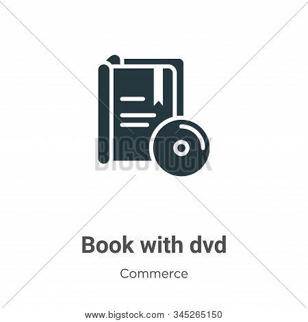 Book With Dvd Vector Icon On White Background. Flat Vector Book With Dvd Icon Symbol Sign From Moder