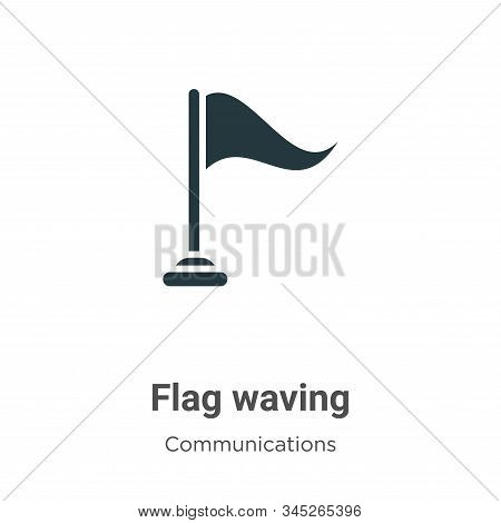 Flag waving icon isolated on white background from communications collection. Flag waving icon trend