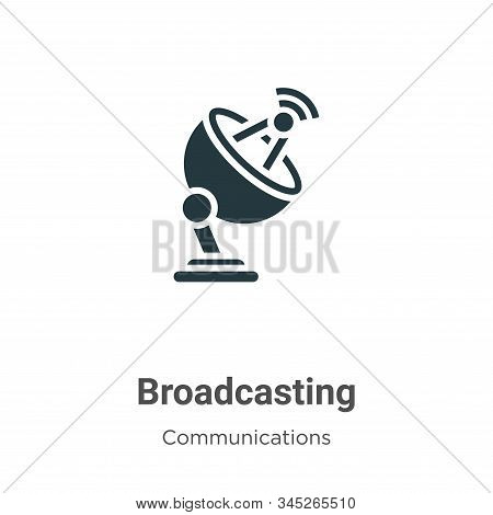 Broadcasting Vector Icon On White Background. Flat Vector Broadcasting Icon Symbol Sign From Modern