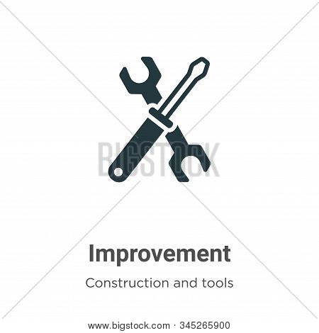 Improvement icon isolated on white background from construction and tools collection. Improvement ic