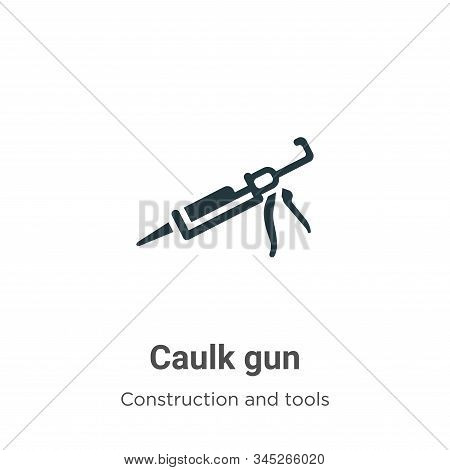Caulk Gun Vector Icon On White Background. Flat Vector Caulk Gun Icon Symbol Sign From Modern Constr