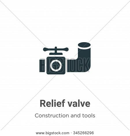 Relief valve icon isolated on white background from construction and tools collection. Relief valve