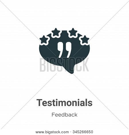 Testimonials Vector Icon On White Background. Flat Vector Testimonials Icon Symbol Sign From Modern