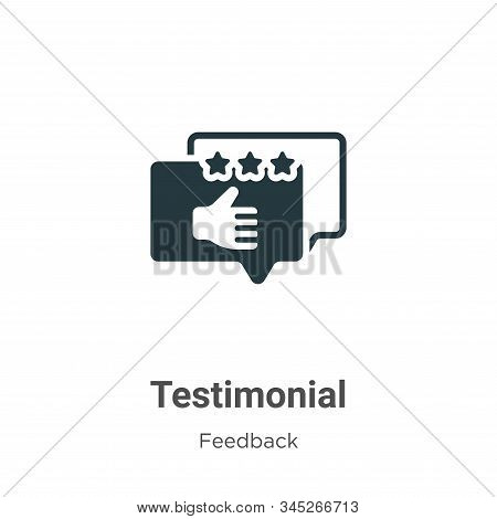 Testimonial Vector Icon On White Background. Flat Vector Testimonial Icon Symbol Sign From Modern Fe