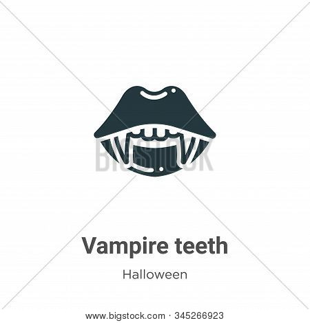 Vampire teeth icon isolated on white background from halloween collection. Vampire teeth icon trendy