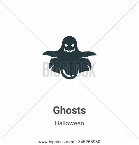 Ghosts icon isolated on white background from halloween collection. Ghosts icon trendy and modern Gh
