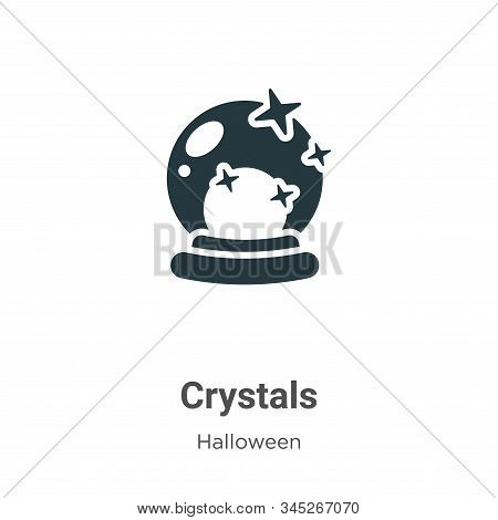 Crystals icon isolated on white background from halloween collection. Crystals icon trendy and moder