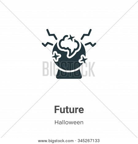 Future icon isolated on white background from halloween collection. Future icon trendy and modern Fu