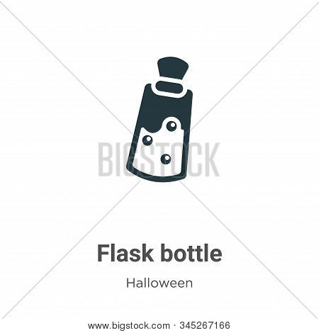 Flask bottle icon isolated on white background from halloween collection. Flask bottle icon trendy a