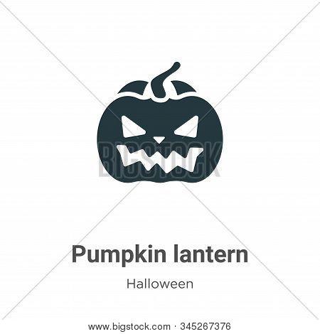 Pumpkin lantern icon isolated on white background from halloween collection. Pumpkin lantern icon tr