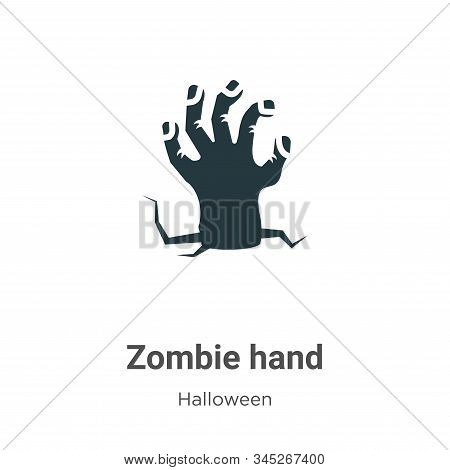 Zombie hand icon isolated on white background from halloween collection. Zombie hand icon trendy and