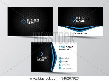 Blue Modern Business Card. Visiting Card Template