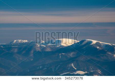 View To Cierny Kamen, Ploska And Borisov Hills From Martinske Hole In Mala Fatra Mountains In Slovak