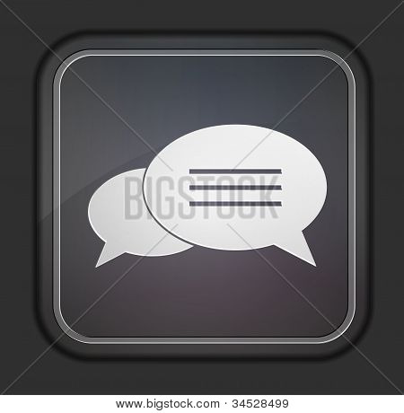Vector Version. Bubble Speech Icon. Eps 10 Illustration. Easy To Edit