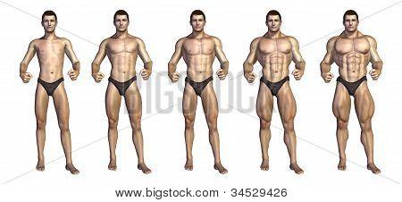 Bodybuilder's Step-by-step Transformation