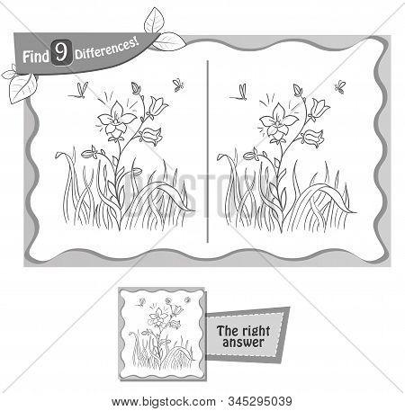 Differences Game Blooming Flower