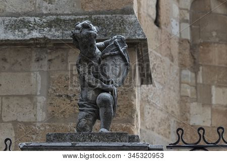 Cherub Statues At The Cathedral Of Leon, Spain