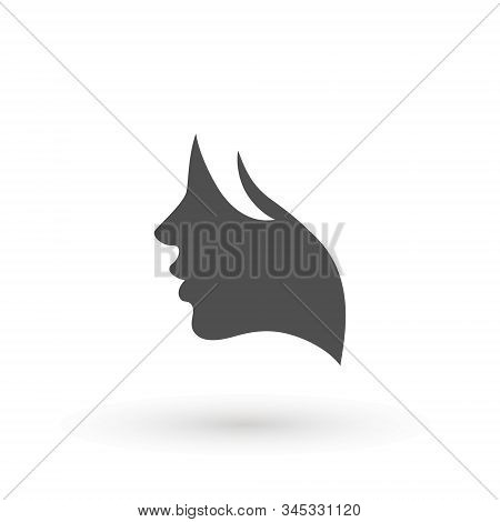 Woman Profile Beauty Illustration Vector. Women Face. Silhouette Head, Face Logo Isolated. Use For B